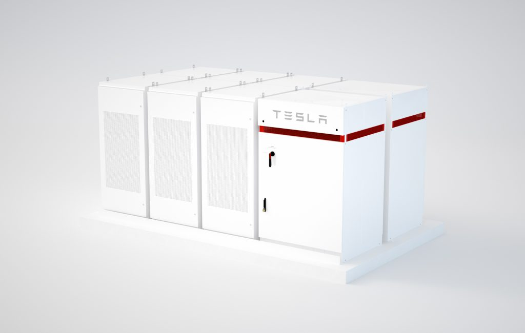 BRNO, CZECH REPUBLIC - JANUARY 11. 3d illustration of a Tesla powerpack 2 backup battery renewable energy storage system.